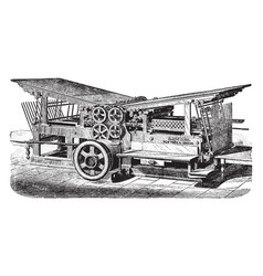 Double cylinder press vintage vector