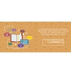 E-learning website banner vector
