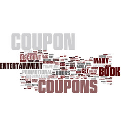 Entertainment coupon book register text vector