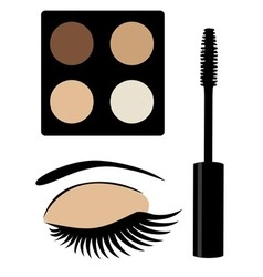 Eye mascara brown vector