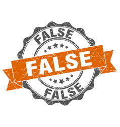 False stamp sign seal vector