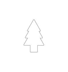 Fir tree flat icon vector