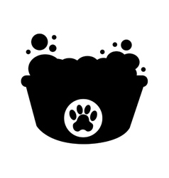 Foam bath for pet vector