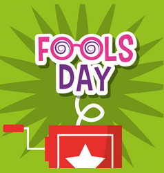 Fools day greeting card decoration vector