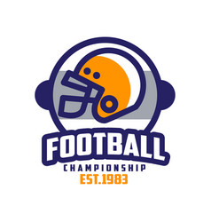 Football championship est 1983 logo design vector