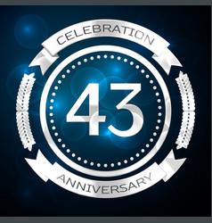 forty three years anniversary celebration with vector image