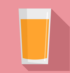 fresh carrot juice glass icon flat style vector image