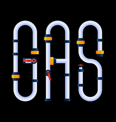 gas is a creative concept word is made vector image