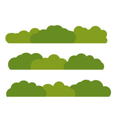 green bush landscape flat icon isolated on white vector image