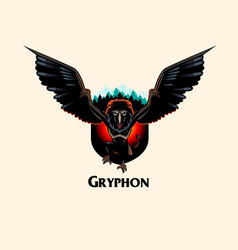 gryphon monster vector image