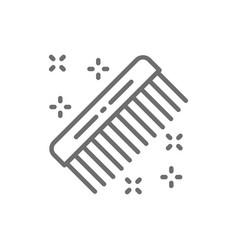 hair comb hairdresser brush barber tool line vector image