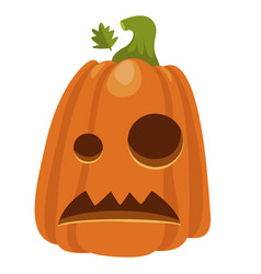 halloween pumpkin icon holiday decoration for vector image