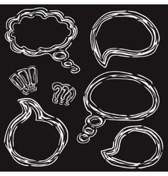Hand Drawn Speech Bubbles Set vector image
