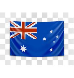 hanging flag australia commonwealth vector image