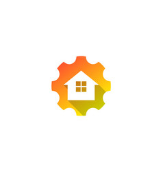 home gear logo icon design vector image