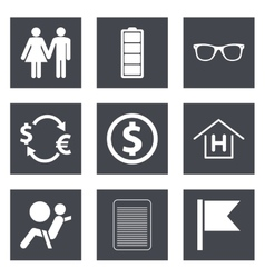 Icons for web design set 47 vector