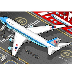 Isometric Air Force One in Rear View vector image