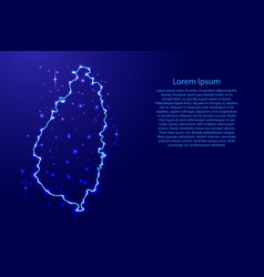 Map saint lucia from the contours network blue vector