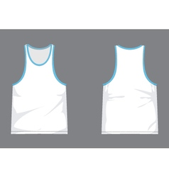 Mens singlet template with shading vector image