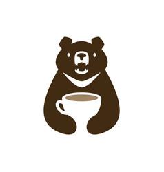Moon black bear vietnam coffee cup drink negative vector