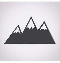 mountains icon vector image