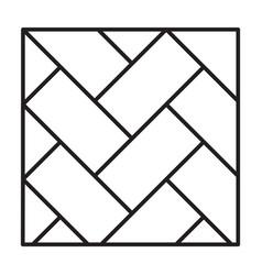 Parquet floor iconline icon vector