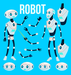 robot animation creation set futuristic vector image