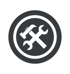 Round black repairs sign vector image