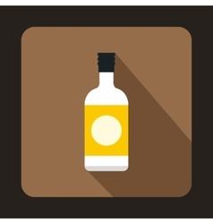 Sake bottle icon flat style vector