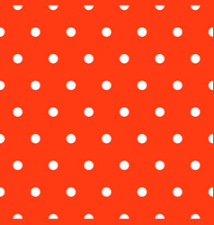 seamless polka dot red and white classic pattern vector image