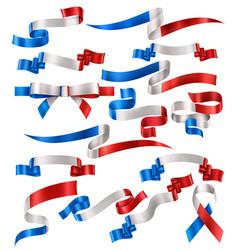 set french ribbons vector image