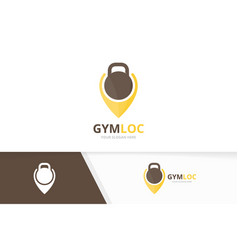 sport and map pointer logo combination gym vector image