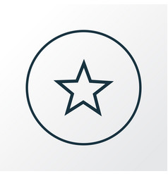 star icon line symbol premium quality isolated vector image