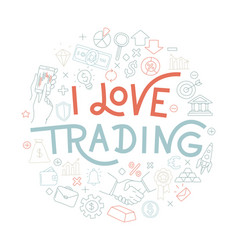 trading exchange round pattern background i love vector image