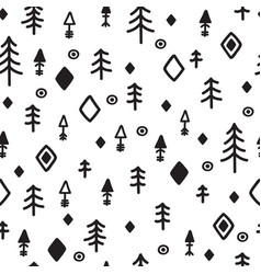 Tribal seamless pattern with sketch elements vector
