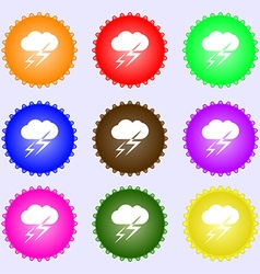 Weather icon sign big set of colorful diverse vector