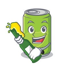 with beer soft drink character cartoon vector image