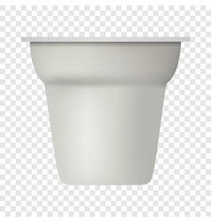 yogurt white container mockup realistic style vector image