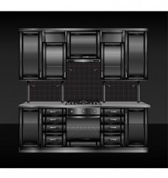 black kitchen vector image vector image
