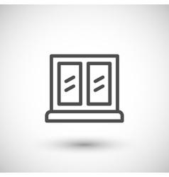 Window line icon vector image vector image