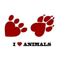 Animal love vector image