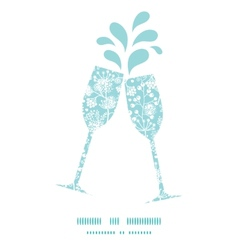 blue and white lace garden plants toasting vector image vector image