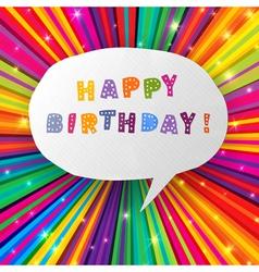happy birthday card colorful vector image vector image