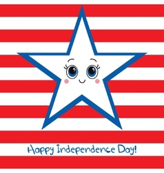 Happy Independence Day USA Greeting card vector image