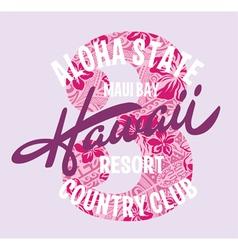 Hawaii country club vector image vector image