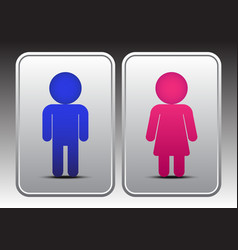 Male and Female Restroom Icon vector image