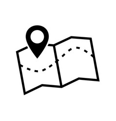 map icon image of a location map icon vector image vector image
