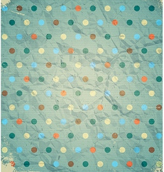 Colorful polka dots on the cardboard vector image vector image