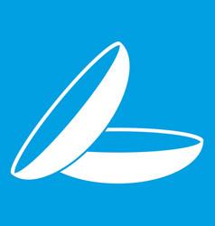 contact lenses icon white vector image