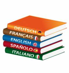 languages manuals vector image